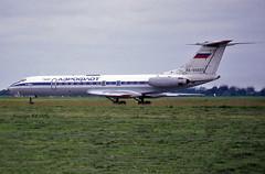 Tupolev TU-134A RA-65697 Aeroflot (EI-DTG) Tags: aeroflot tu134 tupolev134 ra65697 dublinairport 03jul1998 eidw