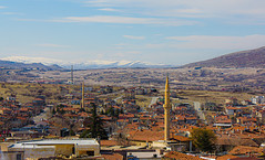 panoramic views to Mt Erciyes, Cappadocia__ (Ardan_Dojan) Tags: panorama view vista town building minarets mosque castle top plains mountains sky clouds hills streets tiles roofs sunny winter uchisar cappadocia turkey nature travel travelling travelphotography landscape landscapephotography ontheroad outside