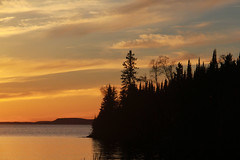 Sunset headland (RPahre) Tags: isleroyalenationalpark isleroyale sunset lakesuperior greatlakes headland ontario michigan sleepinggiant