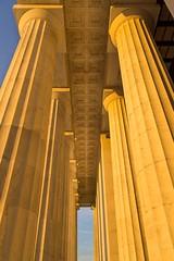 Gospel Truth (BenBuildsLego) Tags: column columns greek roman classical neoclassical sunrise sunset beautiful orange dawn sun lincoln memorial washington dc sony a6000 prime lens warm summer vertical