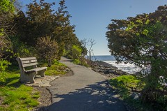 Marginal Way (Bud in Wells, Maine) Tags: maine marginalway ogunquit spring bench coastal morning path