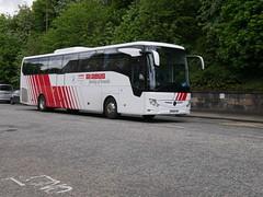 Landtourer Coaches of Fareham Mercedes Benz Tourismo M2 BU18YRG, in Globus Tours livery, at Regent Road, Edinburgh, on 20 May 2019. (Robin Dickson 1) Tags: busesedinburgh globustours mercedesbenztourismo landtoureroffareham bu18yrg