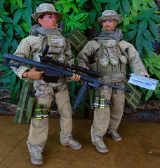 Sniper Team. (Blondeactionman) Tags: actionman bamhq snipers army onesixth onesixthscale dollphotography camo diorama playscale toy