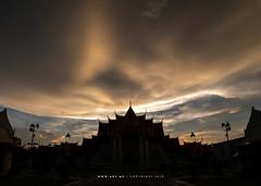 Phra Ubosot, Wat Benchamabophit  (Marble Temple), Bangkok (aey.somsawat) Tags: bangkok buddhisttemple silhouette thaiarchitecture ubosot watbenchamabophit