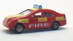 HTI MERCEDES-BENZ C-CLASS W203 NO9 FIRE CAR 1/64 (ambassador84 OVER 15 MILLION VIEWS. :-)) Tags: hti mercedesbenzcclass diecast