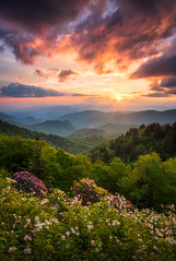 North Carolina Great Smoky Mountains Sunset Landscape Cherokee NC (Dave Allen Photography) Tags: greatsmokymountains smokies cherokee landscape sunset nc maggievalley parkway blueridge mountains blueridgeparkway explore nature nationalpark usa northcarolina scenic outdoors nikon d810