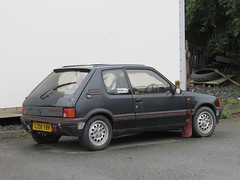 Peugeot 205 GTi (Andrew 2.8i) Tags: carspotting spotting street car cars streetspotting united kingdom wales classic classics uk road spot french gt gti 205 peugeot hatch hot hatchback 16 1600 rally modified tuner tuning race track trackday