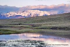 Zumwalt Prairie Reflections (Gary Grossman) Tags: mountains snowcapped wallowa prairie zumwalt landscape dawn alpenglow oregon northwest spring may garygrossman garygrossmanphotography landscapephotography zumwaltprairie wallowamountains pond reflection pacificnorthwest