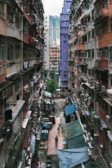 Backyard (mikemikecat) Tags: hong kong architecture old buildings town tokwawan 土瓜灣 stacked up minimal people grunge rawstreets mikemikecat building exterior built structure city residential district mode transportation day car motor vehicle incidental social issues street outdoors life land nature skyscraper apartment place location happyplanet asiafavorites