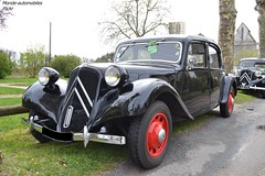 Citroën Traction (Monde-Auto Passion Photos) Tags: voiture vehicule auto automobile citroën traction berline noir black ancienne classique collection rassemblement france courtenay