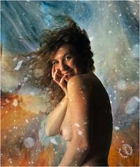 REMY AYLA 1036 V4 (REMYRO) Tags: art cheveux color concept couleur coulures femme lumière nu nue peinture portrait style surréaliste textures neige vent sourir