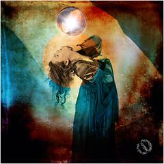 REMY ANAIS BULLE 1164 (REMYRO) Tags: portrait color art illustration noir lumière femme style peinture textures concept tableau couleur cheveux surréaliste en scène mise