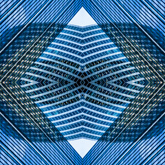 (jfre81) Tags: chicago downtown loop reflection waves city urban kaleidoscope square folded mirrored abstract texture blue james fremont photography jfre81 canon rebel xs eos