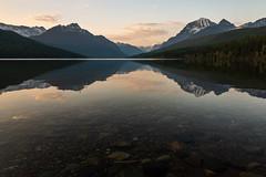 Bowman Lake Sunset ((JAndersen)) Tags: bowmanlake glaciernationalpark nikon nationalpark northfork mountains montana usa nikkor2470mmf28ged d810 sunset water reflection