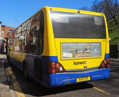 Konectbus 307 is loading up at a bus stop on Castle Meadow while on route 5b. - AU11 ESG - 1st April 2019 (Aaron Rhys Knight) Tags: konectbus 307 au11esg 2019 castlemeadow norwich norfolk goeast optareversa