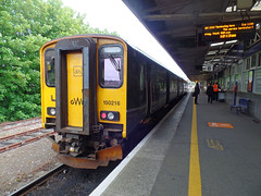 150216 Plymouth (Marky7890) Tags: gwr 150216 class150 sprinter 2p61 plymouth railway devon devonmainline train