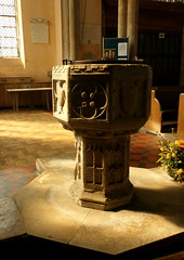 St Peter and St Paul's Church, Clare, Suffolk (beery) Tags: church stpeter stpaul england clare suffolk medieval mediaeval font