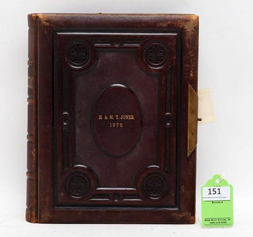 Fine 1876 World Leaders CDV Photo Album ($7,728.00)