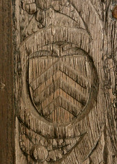 St Peter and St Paul's Church, Clare, Suffolk (beery) Tags: church stpeter stpaul england clare suffolk medieval mediaeval door arms heraldry