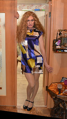 summer dress (Kathryn_cat) Tags: adult dress woman work tgirl face friends evening blonde crossdress casual people posing heels hollidays crossdressing bimbo summer