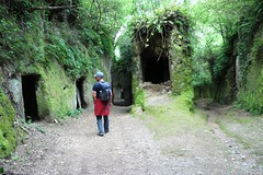 Walking the Vie Cave near Pitigliano (The Sloths) Tags: walkingtheviecavenearpitigliano viecave pitigliano tuscania tuscany cyclingintuscany italy italia cyclinginitaly cycletouringitaly cyclingthroughitaly cycletouring cycling