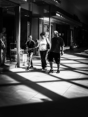 Mall Walkers. Windsor, ON. (Paul Thibodeau) Tags: photooftheday windsor iphone8plus iphoneography streetphotography blackandwhite monochrome