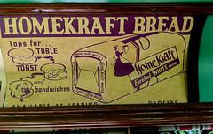 Homekraft Bread (earthdog) Tags: 2019 word text sign advert bread food googlepixel3 pixel3 androidapp moblog cameraphone trolley sanjose historypark kelleypark transit masstransit publictransit museum