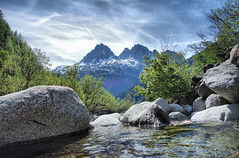 Mont Blanc (denismartin) Tags: denismartin alps alpes hautesavoie chamonix montblanc mountains nature landscape france hikingtrail hiking cloud river creek stream