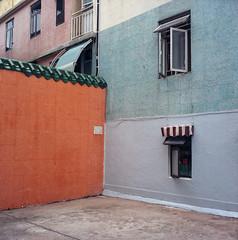 the wall (Vinzent M) Tags: hong kong 香港 zniv tlr rollei rolleiflex 35 zeiss planar kodak ektar 長洲 cheung chau