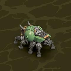 Mech Monday #22: ATLAS – Multipurpose Carrier (roΙΙi) Tags: mechmonday mech carrier atlas sandgreen micro afol moc lego