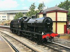 BR (LMS) Class 4F 43924 - Keighley (dwb transport photos) Tags: lms locomotive 43924 keihley keighleyworthvalleyrailway