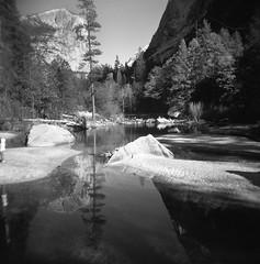 Yosemite winter 2018 (-Alberto_) Tags: yosemite holga120n 120mm mediumformat 6x6 kodakd76 reflection