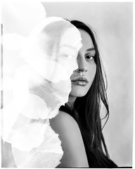 **** (ally.fane) Tags: analogue filmphotography portrait film largeformat blackandwhite girlsonfilm toyo fujiflm xrayfilm xray 4x5film