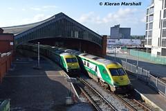 4005 and 4007 at Cork, 19/5/19 (hurricanemk1c) Tags: railways railway train trains irish rail irishrail iarnród éireann iarnródéireann 2019 caf mark4 intercity 4005 4007 0825corkheuston 1025corkheuston cork