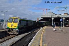 217 at Cork, 19/5/19 (hurricanemk1c) Tags: railways railway train trains irish rail irishrail iarnród éireann iarnródéireann 2019 generalmotors gm emd 201 217 1025corkheuston cork