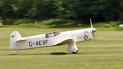 Mew Gull (Bernie Condon) Tags: percival mewgull racing plane aircraft vintage preserved percivalaircraftcompany gaexf 1930s uk british shuttleworth collection oldwarden airfield airshow display aviation flying festivalofflight june2019