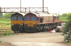 66116 and 66849 Hoo Junction Up Yard (localet63) Tags: class66 66116 66849 hoojunction ews colasrail