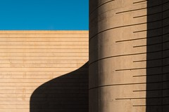 Rafael Moneo. Centro de arte y naturaleza #4 (Ximo Michavila) Tags: rafaelmoneo centrodearteynaturaleza ximomichavila cdan huesca spain aragon exhibition fundacion beulas archidose archdaily archiref architecture art arquitectura culture building abstract minimal geometric museum concrete sunlight day clear blue sky sunset lines