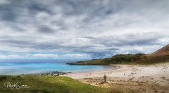 Anakena, a beach paradise (marko.erman) Tags: island ocean remote isolated mystery travel famous civilisation sony chile sky skyscape easter pacific anakena beach rapanui easterisland iledepaques paradise white sand idyllic