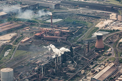 Steelworks - Scunthorpe (deltic17) Tags: british industry steel steelworks factory aerial photography aerialphotography cessna canon flying flight cooling works industrial