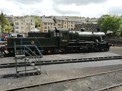 BR Standard Class 2 2-6-0 78022 - Haworth (dwb transport photos) Tags: britishrailways locomotive 78022 haworth keighleyworthvalleyrailway
