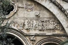 Stone carving of the south timpan (zavar_vera) Tags: trabzon hagiasophia church mosque fresco turkey