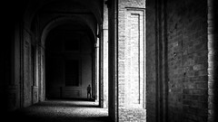 The Librarian (parenthesedemparenthese@yahoo.com) Tags: dem 2019 bn bibliotecapalatina bibliotheque bibliothequepalatine bricks city library man monochrome nb noiretblanc parma parme silhouette street textures april avril blackandwhite bnw briques byn canon600d canoneos600d deminbrackets ef24mmf28 grandcontraste highcontrast italia italie mur parenthesedemparenthese pavement printemps spring streetphotography wall