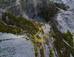#197 The Quarry (Timster1973 - thanks for the 16 million views!) Tags: aerial aerialphotography fly mavic drone uav quadcopter dji mavicprodrone djimavicpro up uphigh droneflying tim knifton timster1973 timknifton explore exploration perspective lookdown lookingdown color colour quarry dinorwic northwales wales welsh flight industrial industry rock slate house workshop land