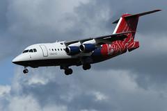 BAe 146  RJ70,  G-ETPK (WestwardPM) Tags: bae bae146 rj70 getpk gbvrj qq102 qinetiq cornwallairportnewquay newquayairport