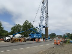 Crews mobilizing on SR 107 Chehalis River Bridge (WSDOT) Tags: tew sr 107 chehalis river bridge montesano rehabilitation grays harbor wsdot