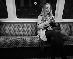 Girl On A Train (captures.in.time) Tags: subway train bus transport trainspotter spt underground glasgow glasgowspt transportation trainphotography transportationphotography city down fast tender speed exposure handhold handheld scotland trains urban cityphotography rush girl girlonatrain mac phone mobile bnw black white blackandwhite monochrome street streetphotography photography