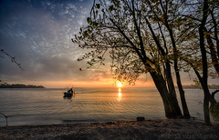 Fishing boat (walts photos) Tags: grandisle lakechamplain namedplaces northamerica northhero unitedstates vermont landscape manmade object scenic sunrise water what where