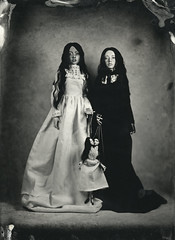 ambrotype (dolls of milena) Tags: bjd abjd resin doll sisters twins wet plate collodion ambrotype retro victorian portrait elfdoll sian marionette siamese