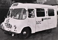 LCC A241 BMC Wandsworth ambulance January 1960. (Ledlon89) Tags: lcc londoncountycouncil ambulance londonambulanceservice bmc austin wandsworth oldlondon uks999 alltypesoftransport britishvehicles fibreglass london emergency accident 999 bluelight hospital